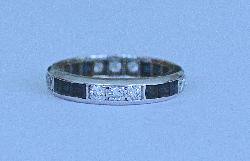 Diamond And Sapphire Full Eternity Ring Vintage