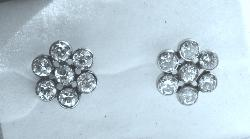 Diamond Daisy Cluster Earrings. Circa 1920s