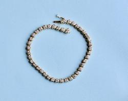 Diamond Line-tennis Bracelet