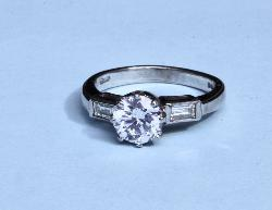 E Colour Diamond Solitaire Engagement Ring