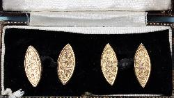 Edwardian Chased Cufflinks
