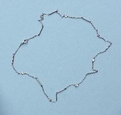 Elegant Vintage Brilliant Cut Diamond Chain