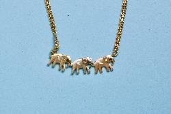 Elephant Retro Gold Necklace