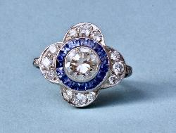 Fabulous Retro Sapphire And Diamond Ring