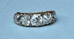 Fantastic Antique Large Five Stone Diamond Ring