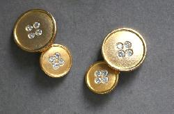 Fantastic Gold And Diamond Cufflinks