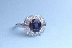 Fine Quality Sapphire And Diamond Engagement Ring