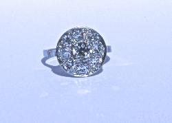 French Vintage Diamond Engagement Ring