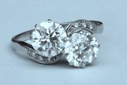 Gorgeous Edwardian Diamond Twin Engagement Ring