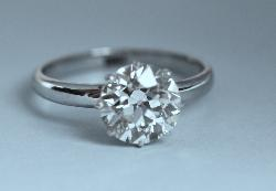 Gorgeous Large Solitaire Diamond Engagement Ring