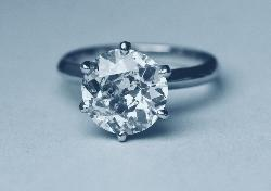 Huge Old-cut Diamond Solitaire Engagement Ring