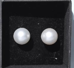 Large Cultured Pearl Earrings Vintage