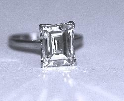 Large Emerald Cut Diamond Engagement Ring 5ct