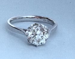 Large Old-cut Diamond Engagement Ring