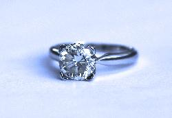 Large Solitaire Diamond Engagement Ring 2.51ct