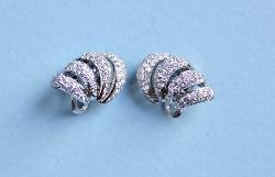 Large Stylish Diamond Earrings