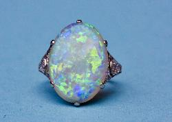 Liberty And Co Edwardian Opal And Diamond Ring