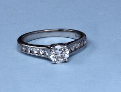 Mappin And Webb Diamond Solitaire Engagement Ring