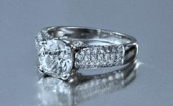 Old Cut Diamond Solitaire Engagement Ring