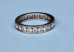 Platinum Diamond Full Eternity Ring  French