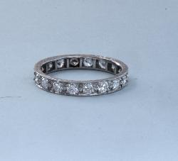 Platinum Diamond Full Eternity Ring 1920s