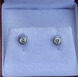 Platinum Diamondstud Earrings