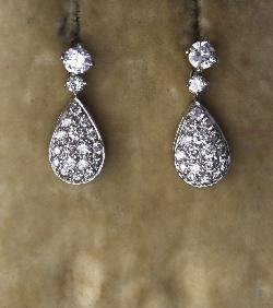 Pretty Diamond Drop Earrings