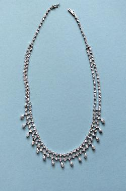 Pretty Diamond Fringe Necklace