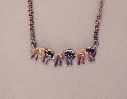 Retro Gold Elephant Necklace