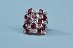 Ruby And Diamond Harem Ring