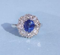 Sapphire And Diamond Cluster Engagement Rinmg