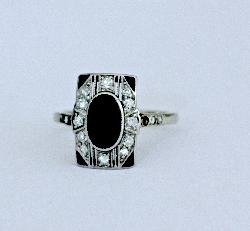 Sapphire And Diamond Engagement Ring Circa 1920