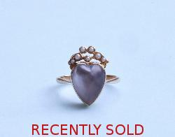 Antique Moonstone Heart Shape Ring