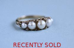 Antique Pearl And Diamond Ring