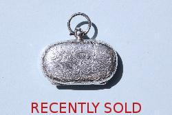 Antique Silver Double Sovereign Case