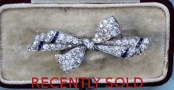 Beautiful Edwardian Diamond Bow Brooch