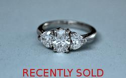 Certificated D Colour Three Stone Diamond Ring