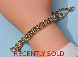 Edwardian Three Chain Gold Bracelet