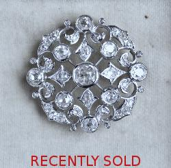 Exquisite Large Diamond Brooch 1920s