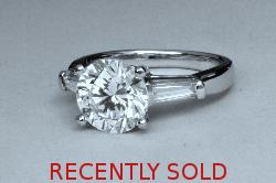 Fabulous Huge Diamond Solitaire Engagement Ring