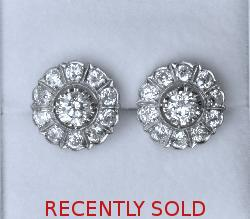 Gorgeous Old-cut Diamond Earrings
