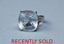 Huge Aquamarine Retro Ring