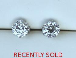 Huge Diamond Stud Earrings