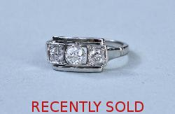 Original Art Deco Diamond Engagement Ring