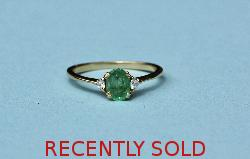 Pretty French Emerald And Diamond Engagement Ring