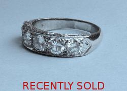 Quality Large Diamond Five Stone Ring