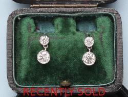 Stunning Diamond Edwardian Drop Earrings
