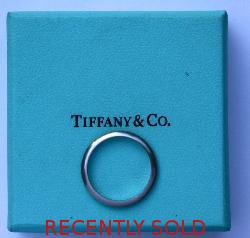 Tiffany  Co Platinum Wedding Band