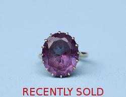 Vintage Large Amethyst Dress Ring