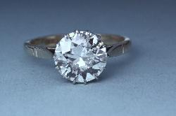 Stunning Certificated 3.50ct Solitaire Diamond Engagement Ring